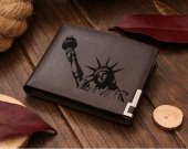 Statue of Liberty Leather Wallet