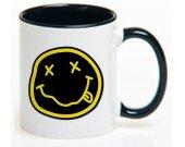 NIRVANA smiley rock band Ceramic Coffee Mug CUP 11oz