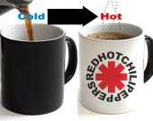 Red Hot Chili Peppers Color Changing Ceramic Coffee Mug CUP 11oz