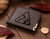 BITCOIN MINER logo Leather Wallet