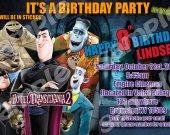Hotel Transylvania 2 4x6 Personalized Birthday Party Invitations #1