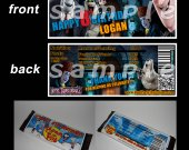 Hotel Transylvania 2 Set of 12 Personalized Candy Bar Wrappers Party Favors - Style 1