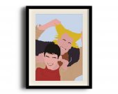 Dumb and Dumber minimalist poster, Dumb and Dumber digital art poster V2