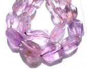 genuine  rock crystal quartz 15-25mm 2strands 16inch strand,purple yellow nuggets freeform jewelry beads