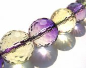 genuine ametrine crystal quartz 10mm 16inch strand,high quality round ball  purple yellow rock jewelry beads