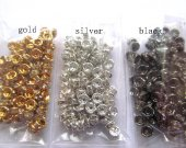 300pcs 4 6 810 12mm high quality rondelle spacer tone silver gold black czech  rhinestone jewelry finding  beaded