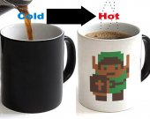Zelda 8 bit Color Changing Ceramic Coffee Mug CUP 11oz