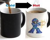 Megaman X 8 bit Color Changing Ceramic Coffee Mug CUP 11oz