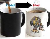 Digimon War Greymon Color Changing Ceramic Coffee Mug CUP 11oz