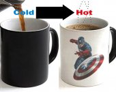 Captain America Color Changing Ceramic Coffee Mug CUP 11oz