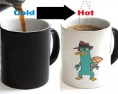Perry the Platypus Phineas and Ferb Color Changing Ceramic Coffee Mug CUP 11oz