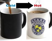Resident Evil Raccoon city police dept STARS Color Changing Ceramic Coffee Mug CUP 11oz
