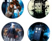 Doctor Who Set Of 4 Wood Drink Coasters
