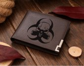 Biohazard Skull Leather Wallet