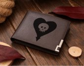 Alkaline Trio Heart Skull Leather Wallet