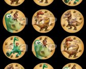 The Good Dinosaur  Set of 12 2.5-Inch Round Personalized Stickers SET #1