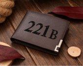 Sherlock Holmes 221B Baker Street Leather Wallet