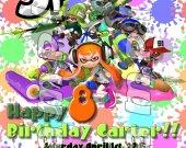 Splatoon Personalized Birthday Party Invitations #1