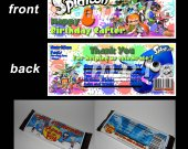 Splatoon  Set of 12 Personalized Candy Bar Wrappers Party Favors - Style 1