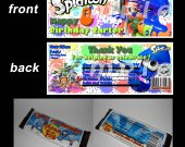 Splatoon  Set of 12 Personalized Candy Bar Wrappers Party Favors - Style 2
