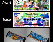Splatoon  Set of 12 Personalized Candy Bar Wrappers Party Favors - Style 3