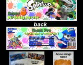 Splatoon Set of 12 Goodie Bag Toppers #3