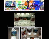 Splatoon Set of 15 Water Bottle Labels - Make Great Party Favors - Style 2