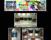 Splatoon Set of 15 Water Bottle Labels - Make Great Party Favors - Style 3