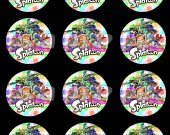 Splatoon Set of 12 2.5-Inch Round Personalized Stickers SET #1