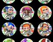 Splatoon Set of 12 2.5-Inch Round Personalized Stickers SET #2
