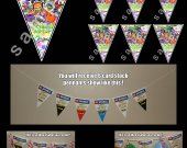 Splatoon 6 Triangle Pennants Banner #1
