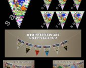 Splatoon 6 Triangle Pennants Banner #2