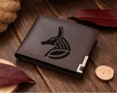 Anubis Egyptian God Leather Wallet