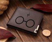 Glasses with Lightning Bolt Leather Wallet