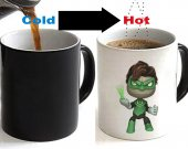 Little Big Planet Sack Boy Crossover Green Lantern Color Changing Ceramic Coffee Mug CUP 11oz