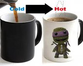 Little Big Planet Sack Boy Crossover Ninja Turtle Color Changing Ceramic Coffee Mug CUP 11oz