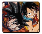 Dragonball Goku Crossover One Piece Luffy MOUSEPAD Mouse Mat Pad
