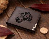 Gasmask Prepper Leather Wallet
