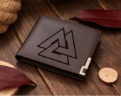 Valknut Viking Leather Wallet