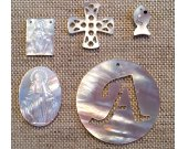 high quality genuine mop shell  10-40mm 25pcs  handmade fish  rectangular Virgin Oval Virgin Letters Cross beads
