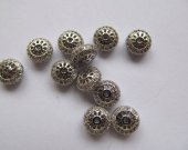 AAA grade  5x8mm 12pcs pave metal spacer &cubic zirconia crystal rondelle wheel antique silver  gold mixed  jewelry beads