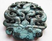 wholesale 70mm 2pcs  handmande natural jade stone  Double Face assortment jewelry focal pendant bead