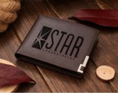 S.T.A.R. STAR Labs Laboratories Leather Wallet