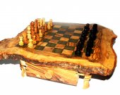wood oriental chess set handmade gift idea  , jeux dchec en olivier