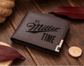 It's Miller Time Leather Wallet