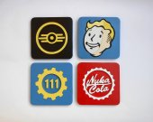 Handmade Fallout set of 4 coasters, Fallout coaster set