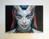 Handmade Queen of Pain, Dota 2 portrait
