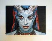 Handmade Queen of Pain, Dota 2 portrait