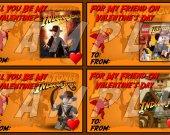 LEGO INDIANA JONES Valentines Set #2