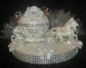 Wedding Cake Topper Cinderella Large Carriage